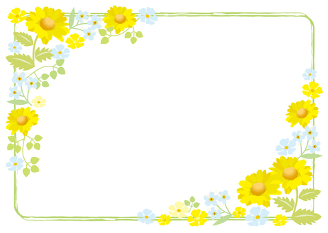 Yellow flower frame 3