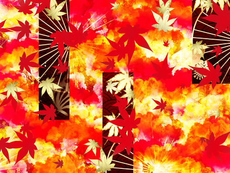 Japanese autumn leaves in Japanese