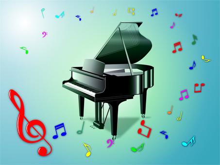 Piano (blue green)