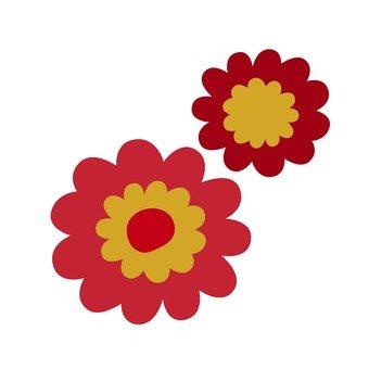 붉은 꽃 1
