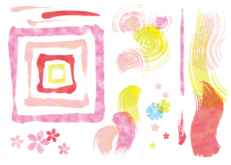 Watercolor brush touch CS2 Pink