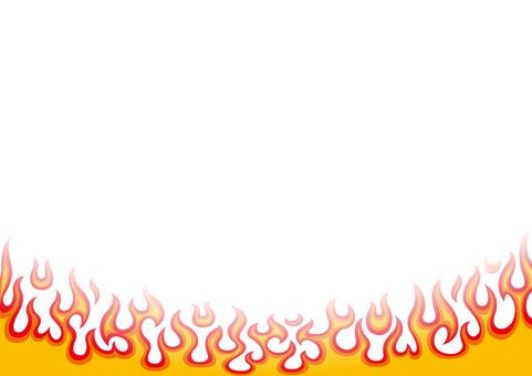 Fire frame wallpaper