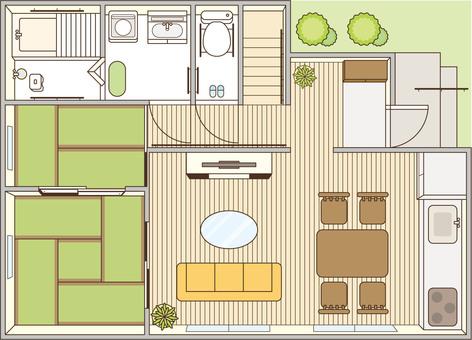 Nursing care renovation house renovation drawing