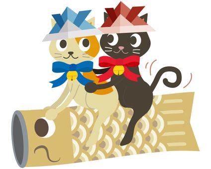 Children's Day 15 (Cat Koinobori Yellow 06)
