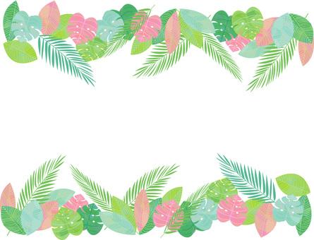 Tropical image leaf frame