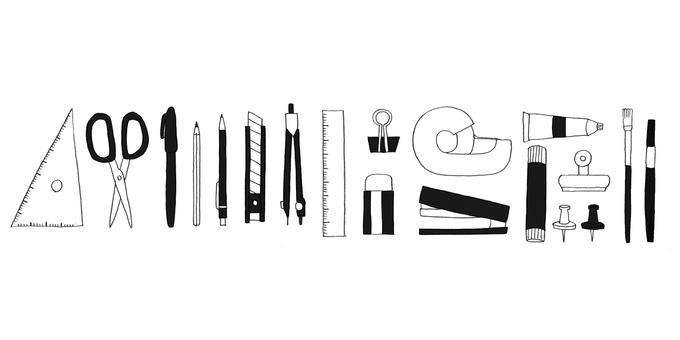 Stationery (monochrome)