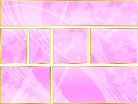 7 size cherry blossom frame 01
