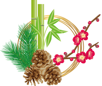 New Year decoration _ Flowers _ Shochiku Mei 1