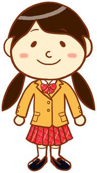 """Blazer female """"beige × red"""""""