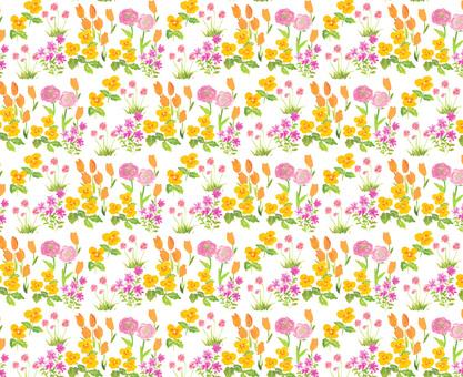 Spring flower material pattern flower pattern