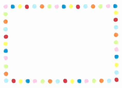 Polka dot frame 2