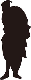 Ukiyoe silhouette 122