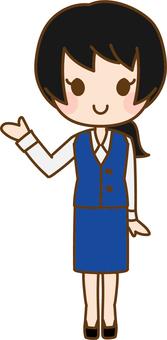 Woman information uniform