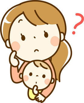 Baby and mom feeling doubt