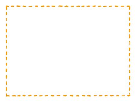 Crayon touch stitch frame 5 Orange