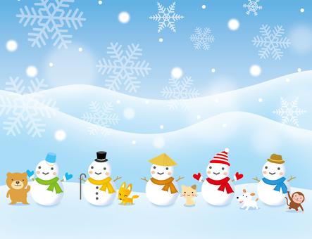 Muñeco de nieve y animales Varios
