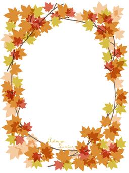 Autumn leaves frame (vertical)