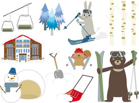 Winter game 07 (ski C_ set 01)