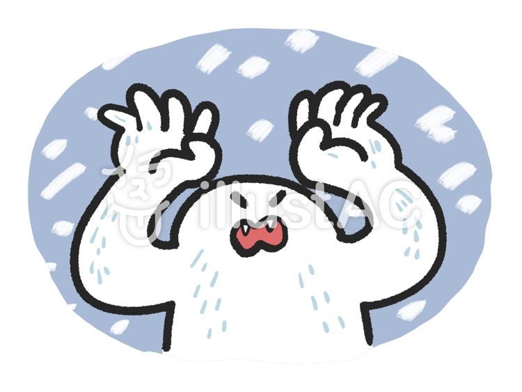 雪男背景色ありイラスト No 1490207無料イラストならイラストac