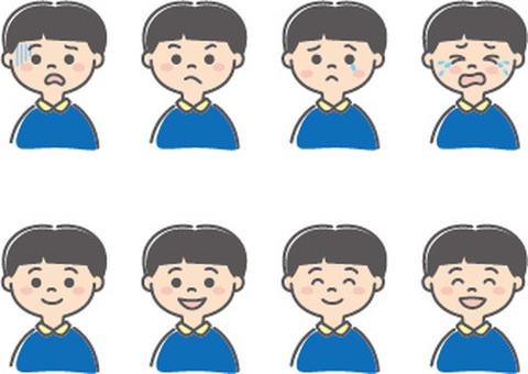 Boy's facial expression
