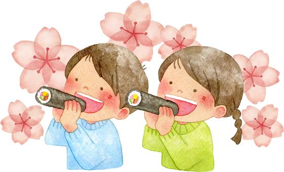 Children who eat Egata winding