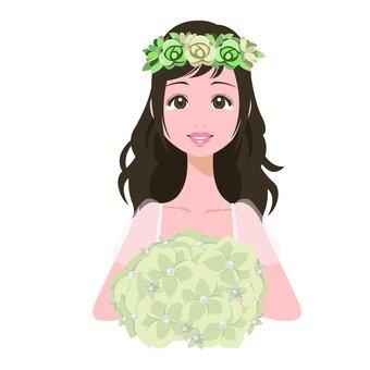 꽃다발을 가진 여자 8