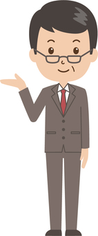 Middle-aged man   salaried worker   suit  