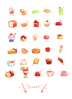 Assorted sweets