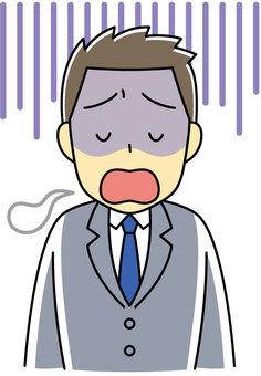 A depressed businessman