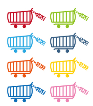Shopping cart 8 color set