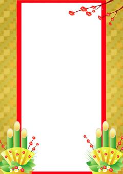Kadomatsu frame (portrait orientation)