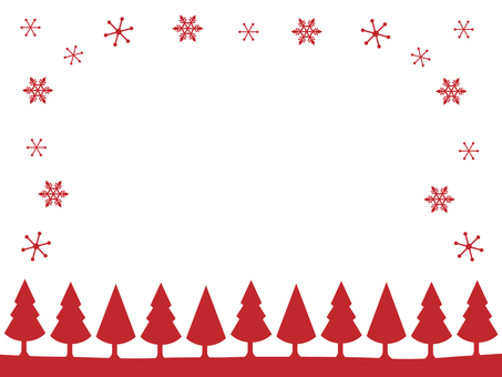Two color Christmas card