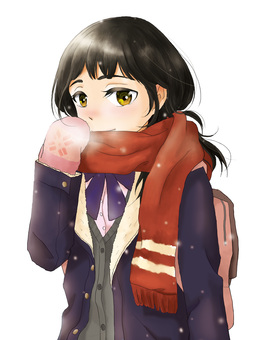 D_ woman high students _ winter