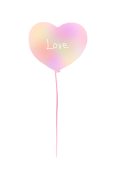 Heart balloon (pink)