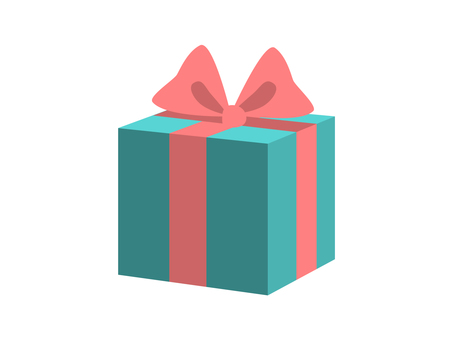 Present (Blue box and Pink ribbon)