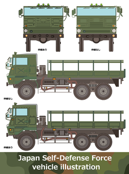 Large truck Self-Defense Forces vehicle Type 73 truck