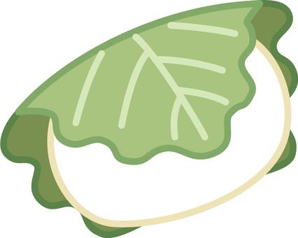 Kashiwa cake (white)