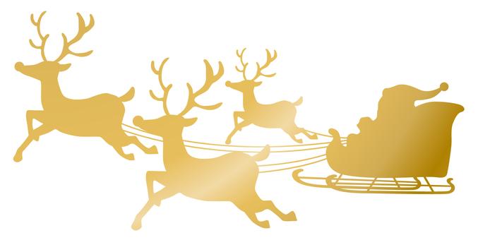 Reindeer · Santa silhouette gold
