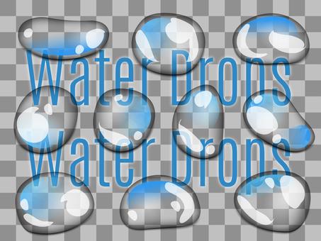 透過水滴 3 青