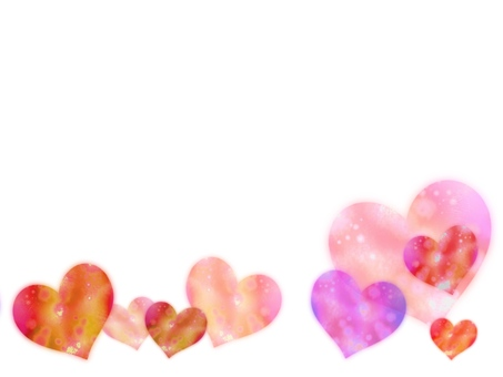 Watercolor hand-drawn wind heart frame background