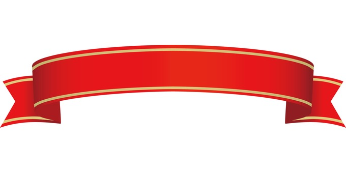 Ribbon red with border