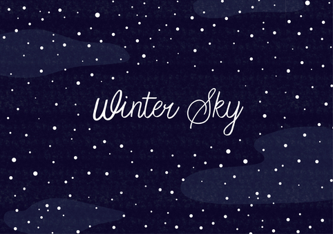 겨울 하늘 배경 일러스트 소재