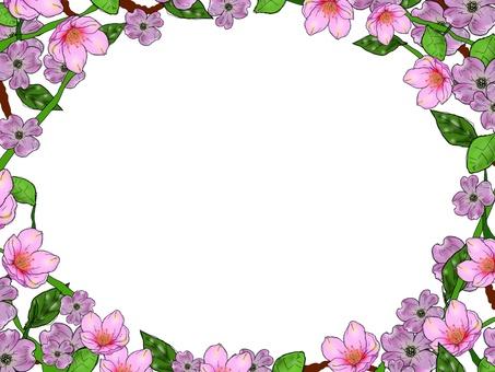 Flower frame ornate