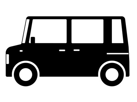 Light motor vehicle height trolley silhouette
