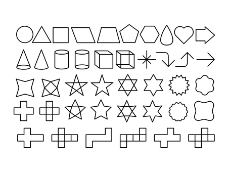 Shape icon set