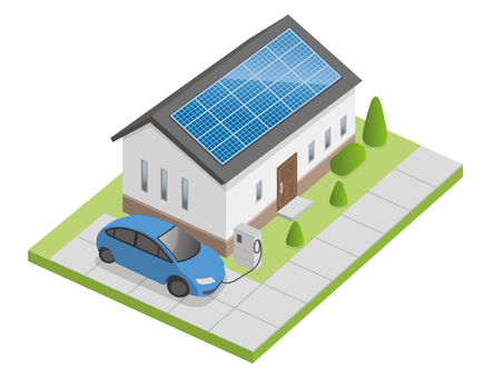 Electric cars and energy saving houses (V2H)