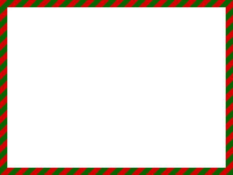 クリスマス長方形フレーム