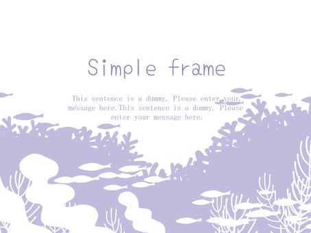 Deep sea frame 01 / purple