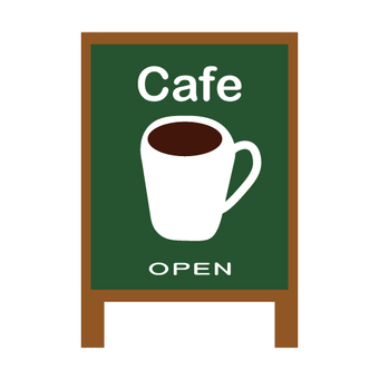 Cafe signboard (OPEN)