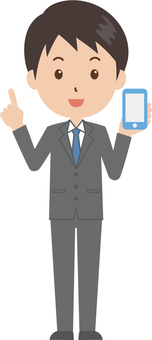 Male | salaried worker | suits | smartphone